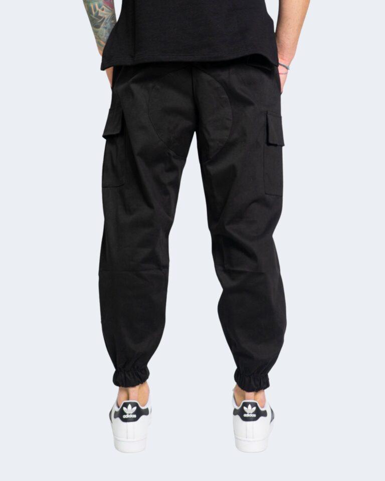 Pantaloni con cavallo basso Hydra Clothing TASCHE LATERALI Nero - Foto 2