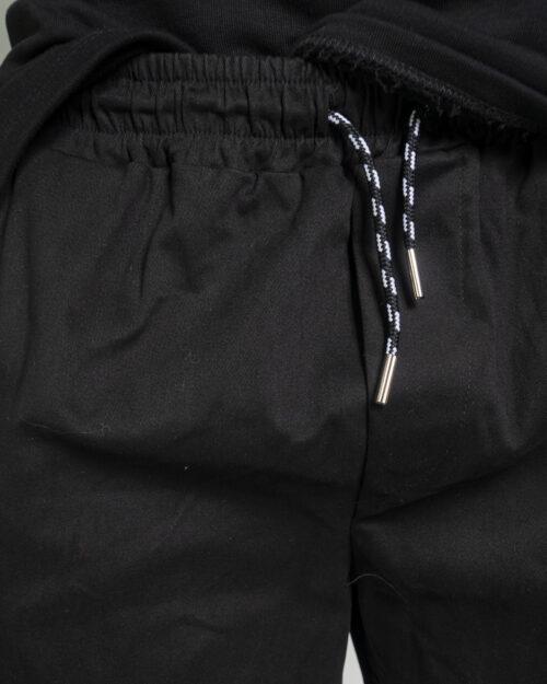 Pantaloni con cavallo basso Hydra Clothing TASCHE LATERALI Nero - Foto 3