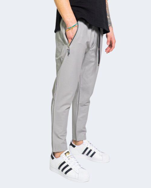 Pantaloni con cavallo basso Kimik TASCA ZIP Argento – 67343