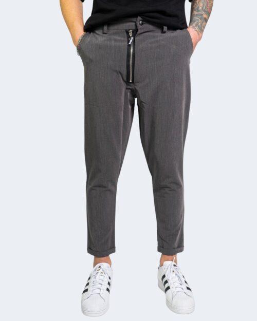 Pantaloni con cavallo basso Kimik DOPPIA ZIP Grigio – 67891