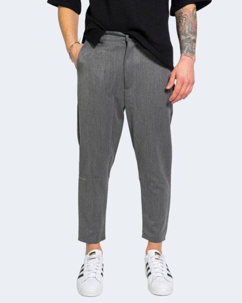 Pantaloni con cavallo basso Kimik BOTTONE Grigio – 67890