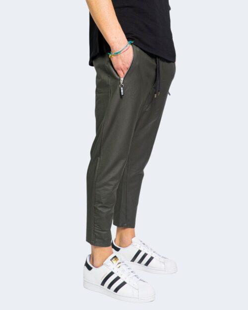 Pantaloni con cavallo basso Kimik TASCA ZIP Grigio Scuro – 67343