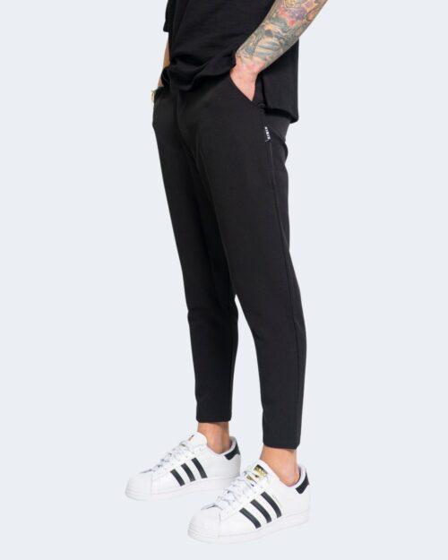 Pantaloni con cavallo basso Kimik BOTTONE Nero – 67890