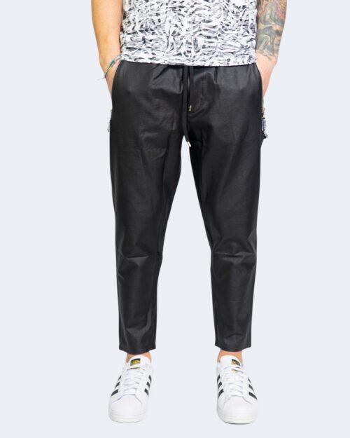 Pantaloni con cavallo basso Kimik TASCA ZIP Nero – 67343