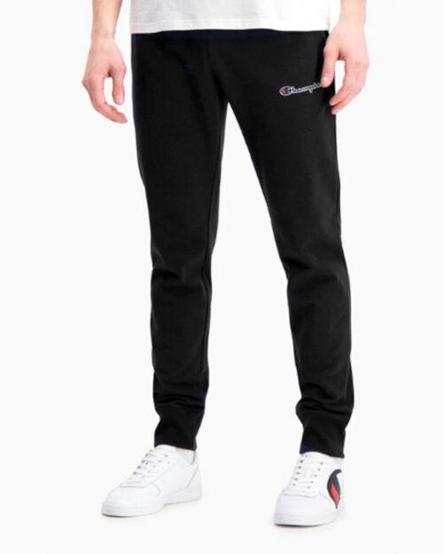 Pantaloni sportivi Champion Joggers Con Polsini Logo Champion Stampato Nero – 44691