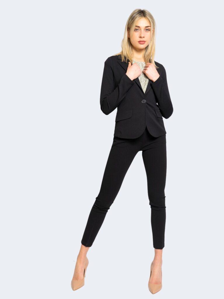 Pantaloni da completo Rinascimento CREPE STRETCH Nero - Foto 2
