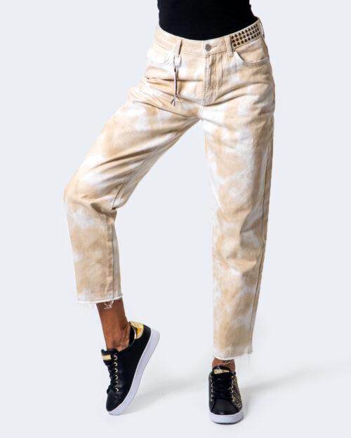 Pantaloni a sigaretta Desigual PANT TIE 9999 Beige – 45548