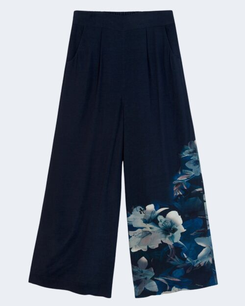 Pantaloni a palazzo Desigual PANT GABRIELA Blu - Foto 4
