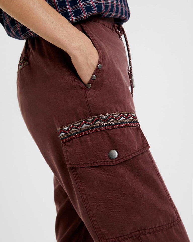 Pantaloni Desigual Pant greta Bordeaux - Foto 2