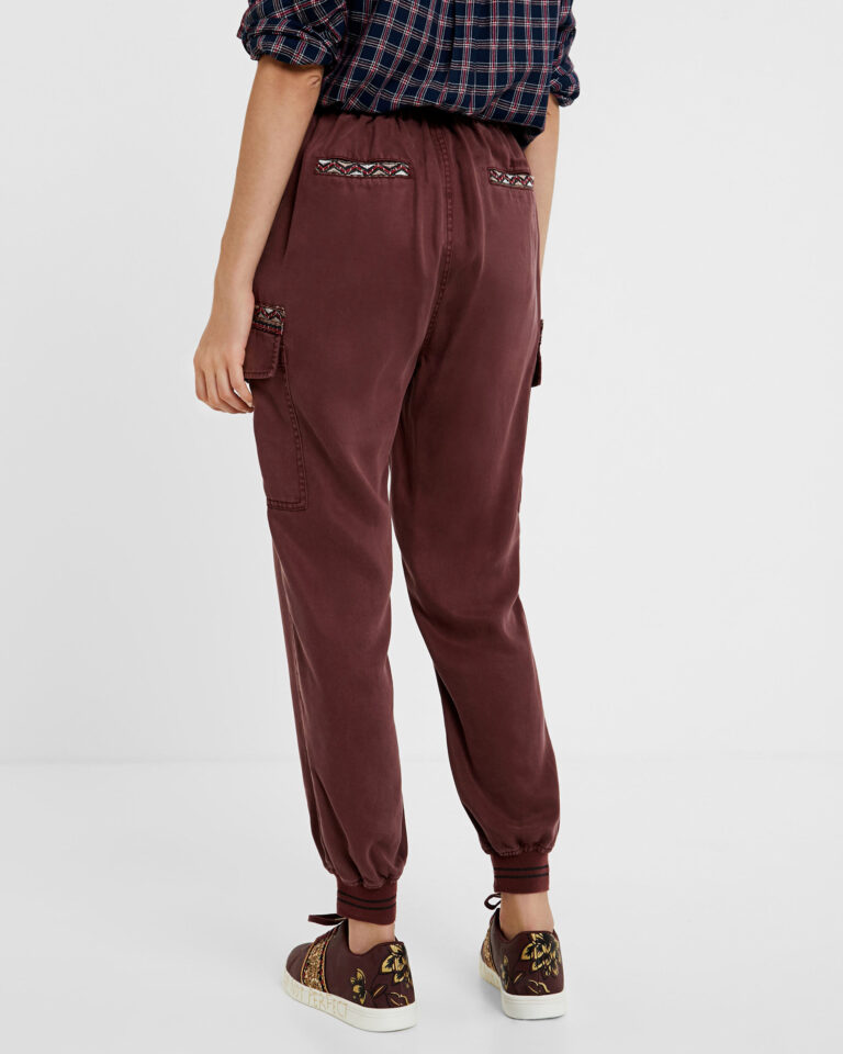 Pantaloni Desigual Pant greta Bordeaux - Foto 3