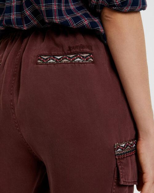 Pantaloni Desigual Pant greta Bordeaux - Foto 4