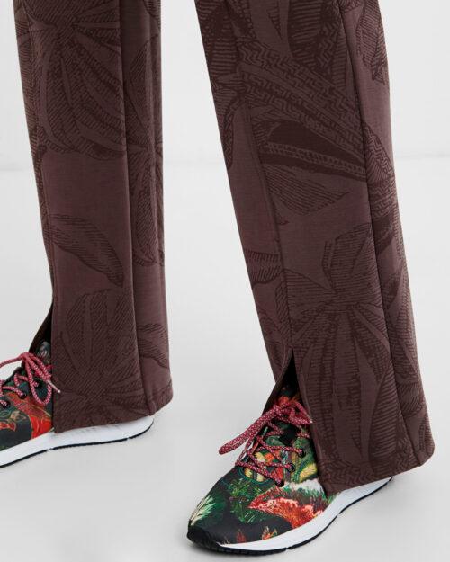Pantaloni a sigaretta Desigual PANT PINTUCK WINTER JUNGLE Marrone – 54814