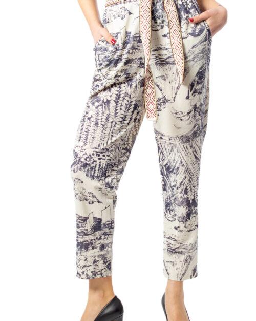Pantaloni Desigual PANT TROPICAL Panna – 39576