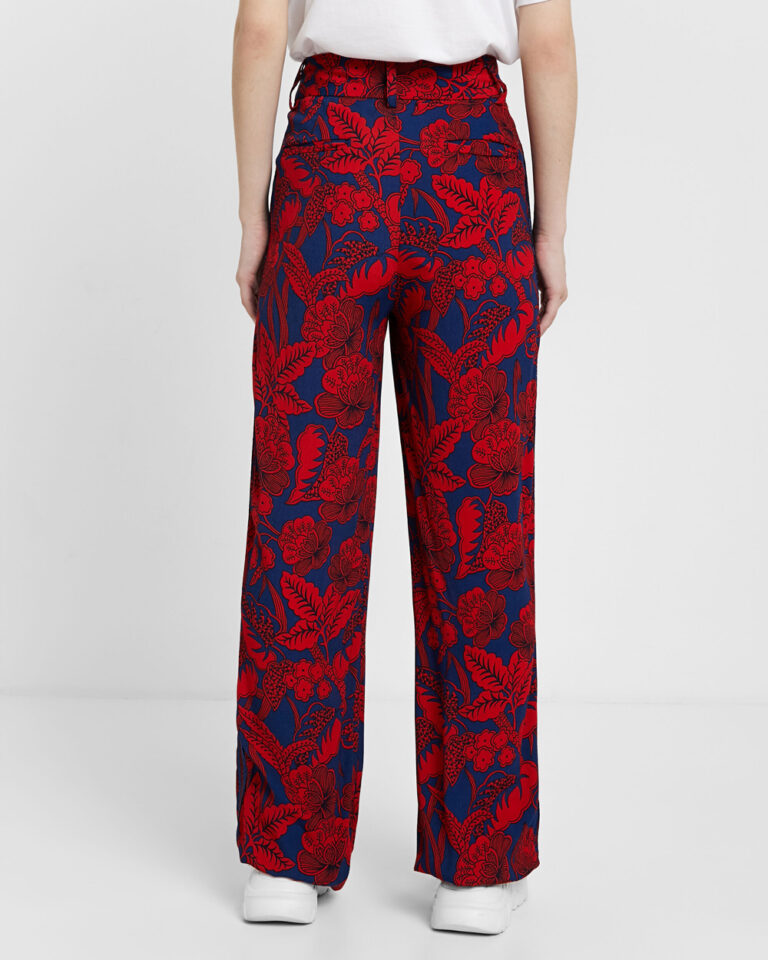 Pantaloni a palazzo Desigual Pant Eritrea Rosso - Foto 2