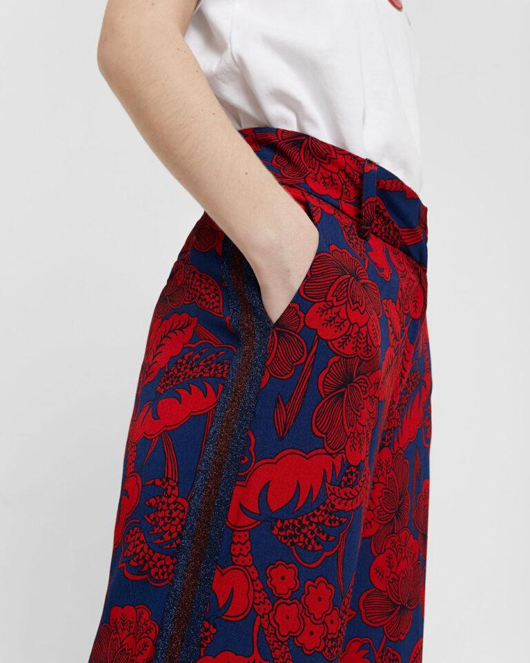 Pantaloni a palazzo Desigual Pant Eritrea Rosso - Foto 3