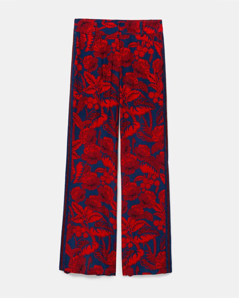 Pantaloni a palazzo Desigual Pant Eritrea Rosso - Foto 4