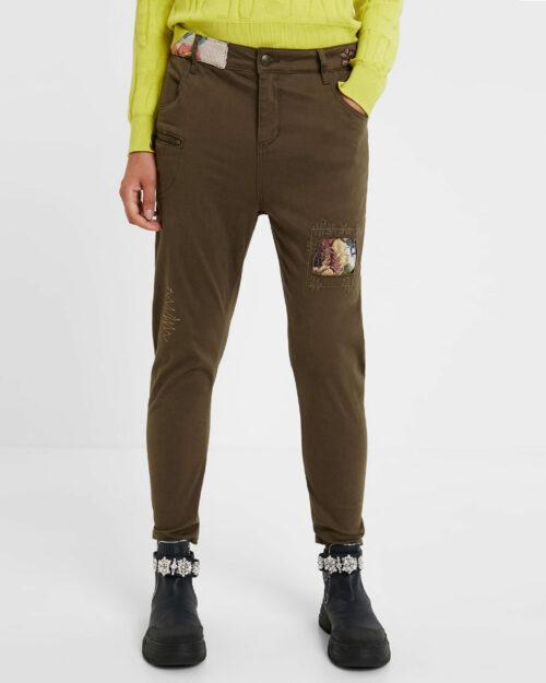 Pantaloni Desigual Pant coffe shop Verde - Foto 1
