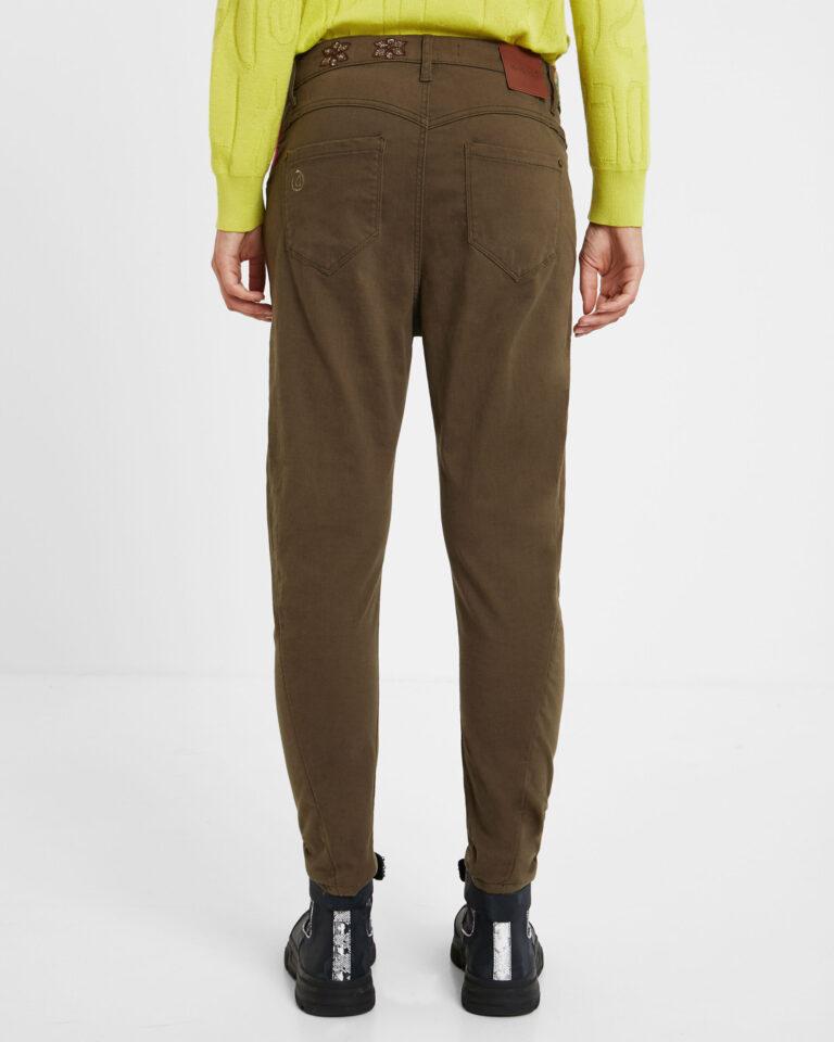 Pantaloni Desigual Pant coffe shop Verde - Foto 2