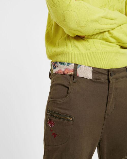 Pantaloni Desigual Pant coffe shop Verde - Foto 3