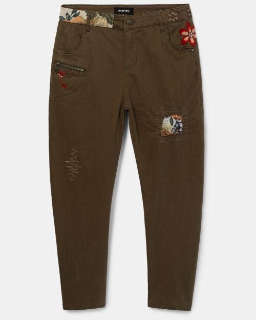 Pantaloni Desigual Pant coffe shop Verde - Foto 4