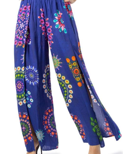 Pantaloni a palazzo Desigual PANT BONDI Viola – 39637