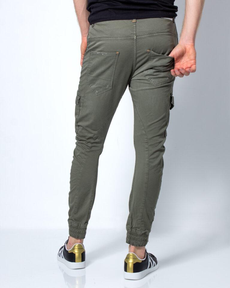 Pantaloni slim Displaj ZIP CAVIGLIA Verde Oliva - Foto 3