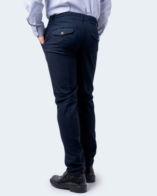 Pantaloni slim ENRICO COVERI ORIONE Blu - Foto 3
