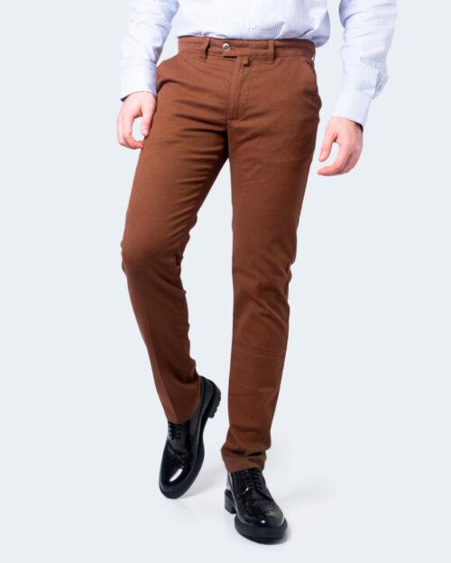 Pantaloni slim ENRICO COVERI ORIONE Marrone - Foto 1