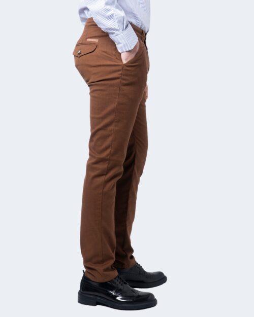 Pantaloni slim ENRICO COVERI ORIONE Marrone - Foto 2