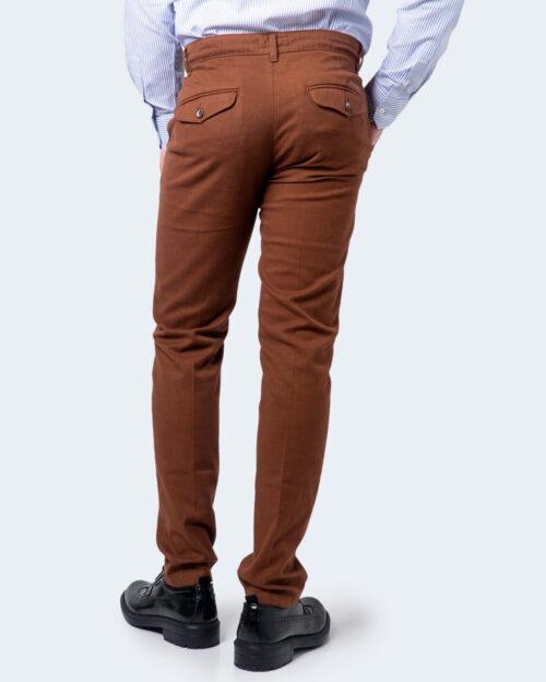 Pantaloni slim ENRICO COVERI ORIONE Marrone - Foto 3