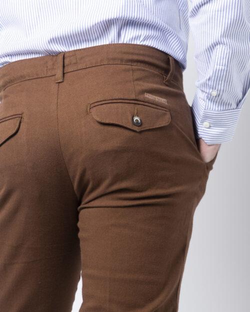 Pantaloni slim ENRICO COVERI ORIONE Marrone - Foto 4