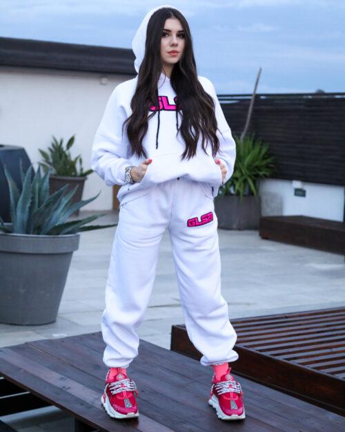 Pantaloni sportivi Glsr LOGO RICAMO Bianco – 61857
