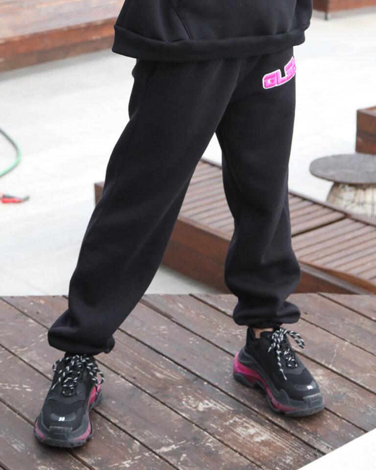 Pantaloni sportivi GLSR LOGO RICAMO Nero - Foto 1