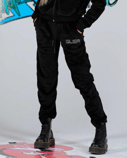 Pantaloni sportivi Glsr LOGO STRASS Nero – 59132