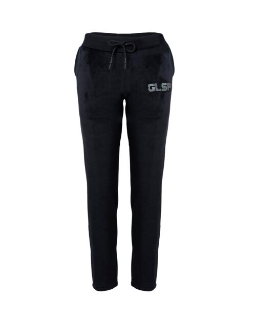Pantaloni sportivi GLSR LOGO STRASS Nero - Foto 3