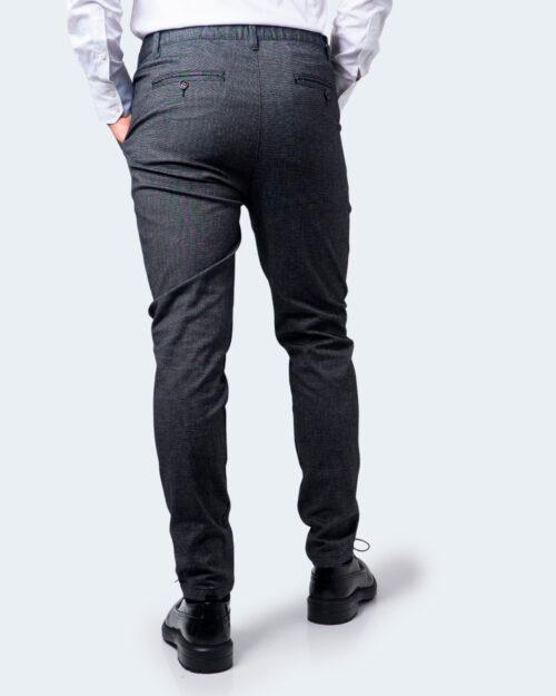 Pantaloni con cavallo basso Idra STAMPA PUNTINATA 711YD Nero – 58414