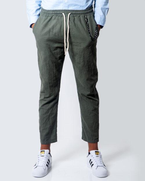 Hydra Clothing Pantaloni con cavallo basso LUNGO LINO CATENA 5932 - 1