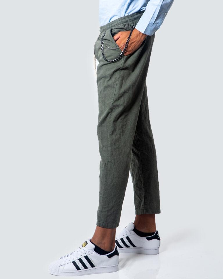 Hydra Clothing Pantaloni con cavallo basso LUNGO LINO CATENA 5932 - 2