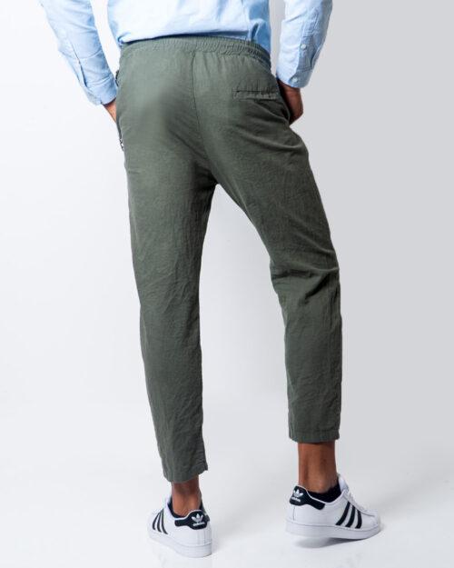 Hydra Clothing Pantaloni con cavallo basso LUNGO LINO CATENA 5932 - 3