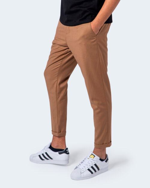 Pantaloni con cavallo basso Imperial TINTA UNITA Beige scuro – 55087