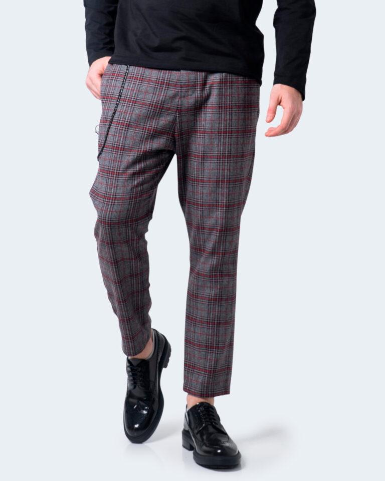 Pantaloni con cavallo basso Imperial QUADRI Grigio - Foto 1