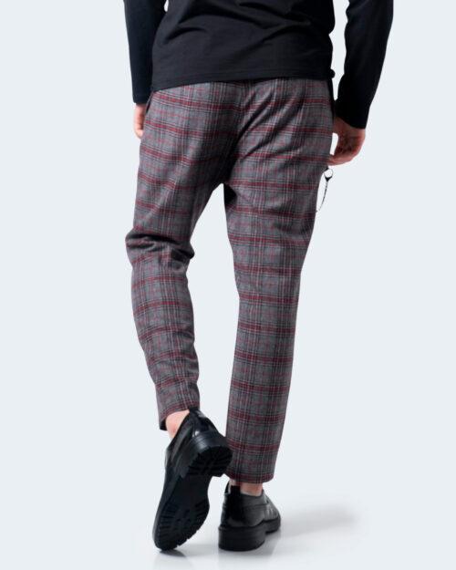 Pantaloni con cavallo basso Imperial QUADRI Grigio – 54541