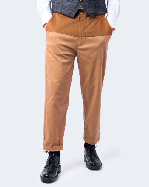 Pantaloni con cavallo basso Imperial CHINO DUE COLORI Marrone – 59648