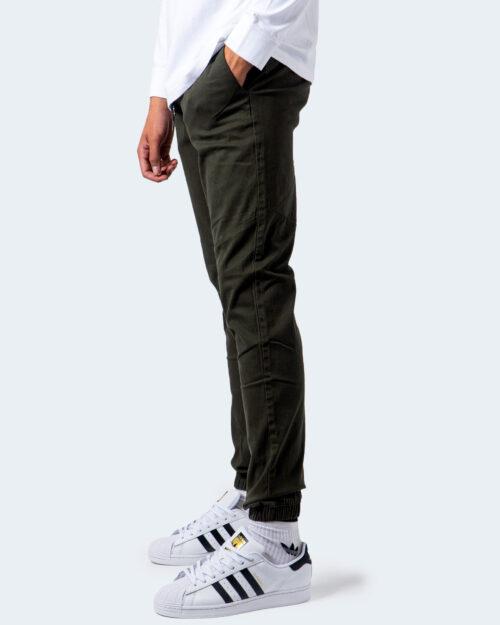 Pantaloni con cavallo basso Jack Jones VEGA JOGGER AKM Verde Oliva – 54725