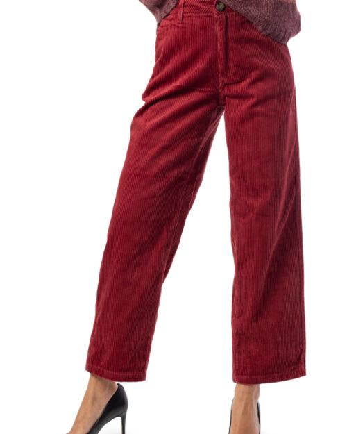 Pantaloni a palazzo Jacqueline De Yong KIRA WIDE HIGH CORD ANK  PNT Bordeaux – 34506