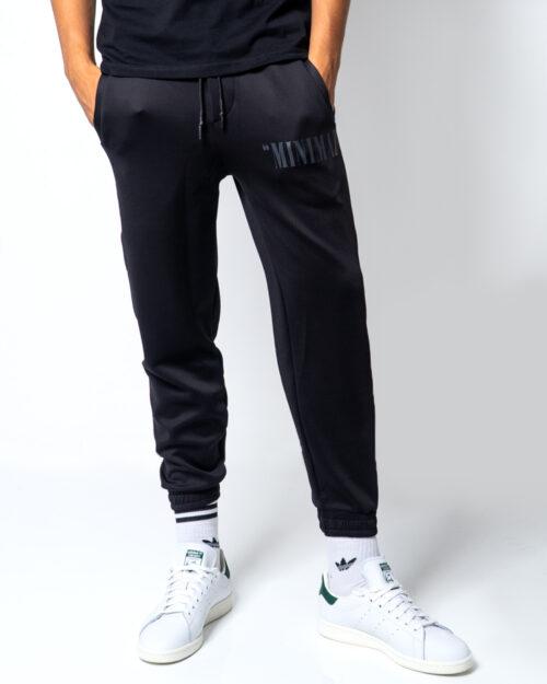 Pantaloni sportivi Minimal STAMPA FULMIMI  + LOGO Nero – 45557