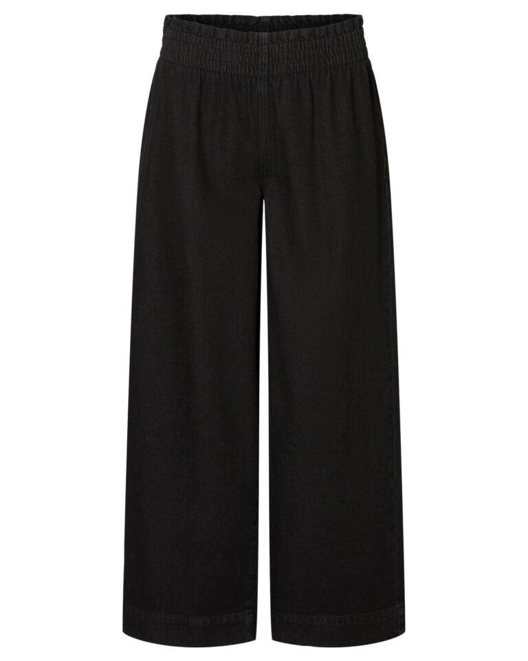Pantaloni a palazzo Noisy May ANNA NW SMOCK WIDE PANTS CS110BL Nero - Foto 1