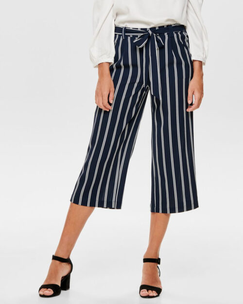 Pantaloni a palazzo Only Winner Palazzo Culotte Pant Noos Stripes Blue scuro – 31101