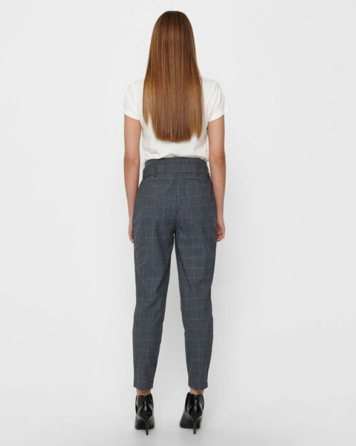 Pantaloni Only NICOLE CHECK PAPERBAG PANTS WVN Grigio – 61247