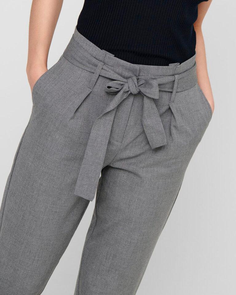 Pantaloni Only NICOLE Grigio Chiaro - Foto 3